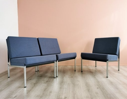 Set of 3 Dutch Design Gispen 1451 Easy Chairs by Coen de Vries, 1960's