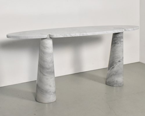 Eros Console Table in Marble by Angelo Mangiarotti for Skipper, Italy 1970s