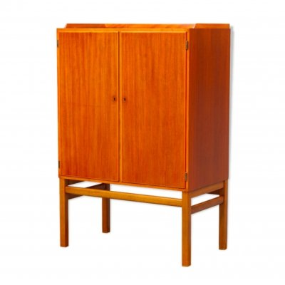 Scandinavian MidCentury Bar Cabinet by Axel Larsson for Bodafors, 1950s