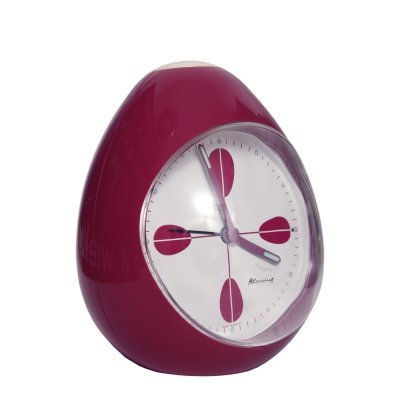 Space Age Purple Plastic Blessing Alarm Clock, Germany 1970s