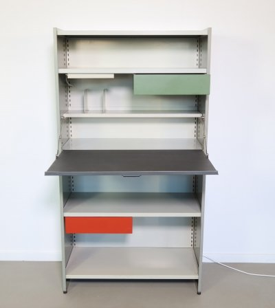 Steel cabinet with desk by André Cordemeyer for Gispen, 1960s
