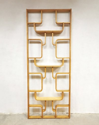 Vintage design wall unit / room divider by Ludvík Volák for Dřevopodnik Holešov, 1950s