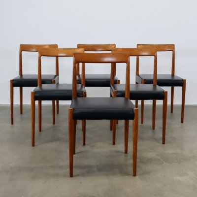 Set of 6 Lubke dining chairs
