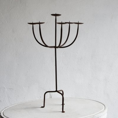 Wrought Iron Candlestick, 1960s