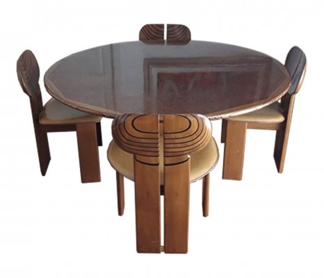 Africa dining set by Tobia Scarpa & Afra Scarpa for Maxalto, 1970s