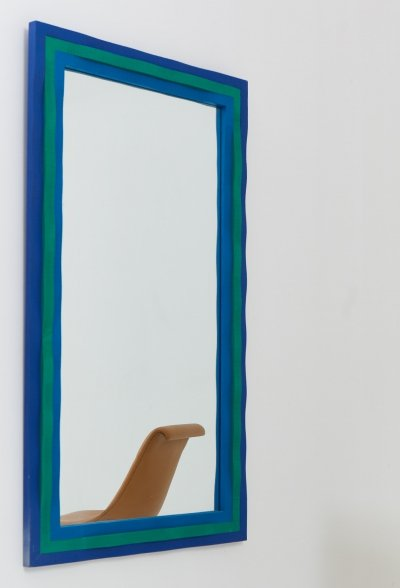 1969 Mirror by Swedish Glass artist Erik Höglund for Eriksmåla
