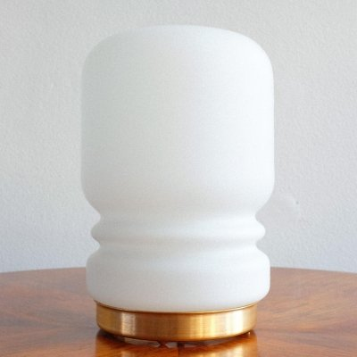 Small white table lamp, 1970s