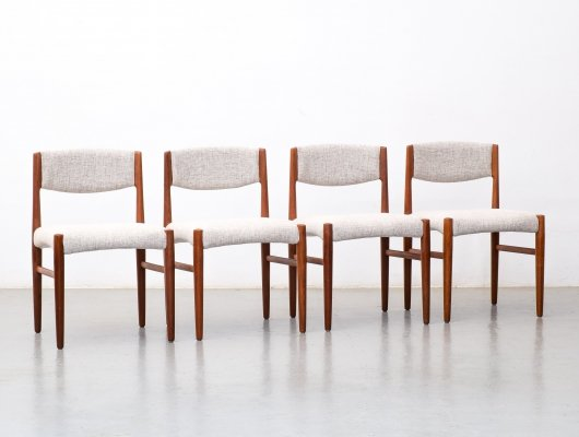 Set of 4 dining chairs by Glostrup Møbelfabrik, 1960s