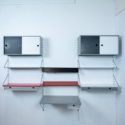 Modular wall unit by Tjerk Reijenga for Pilastro, 1950s