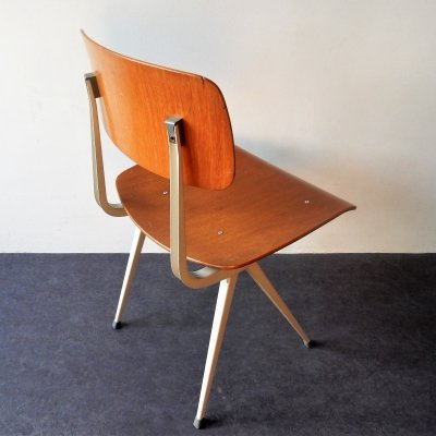 Result chair with plywood on grey frame by Friso Kramer for Ahrend de Cirkel