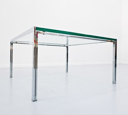 Coffee Table in Chrome And Glass, 1960s
