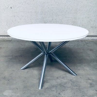 Postmodern Design X Frame Dining Table, Italy 1990s