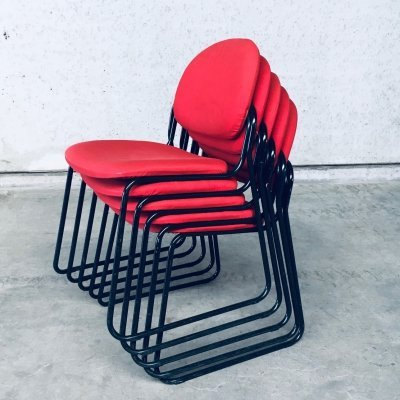 Postmodern Italian Design Stacking Chair set by Talin, Italy 1980's