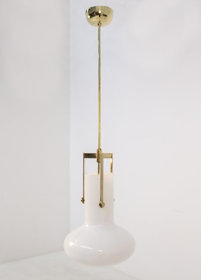Pendant by Ignazio Gardella for Azucena in brass & glass, 1960s