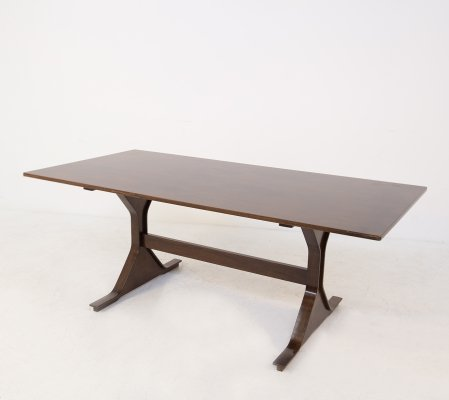 Gianfranco Frattini for Bernini Table in walnut, original label 1960s