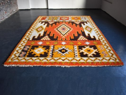 Vintage 1960s Wool Berber Carpet from Morocco