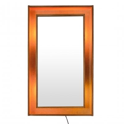 Backlit Danish design mirror by Pedersen Hansen