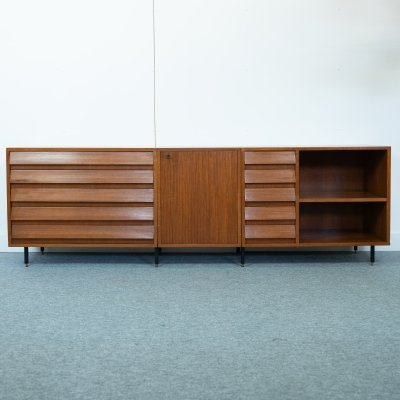 Three-piece Italian sideboard in teak, 1960s