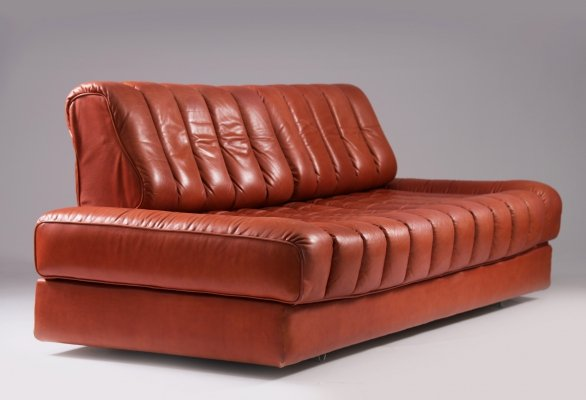 Original rare color leather De Sede DS85 sofa, 1970s