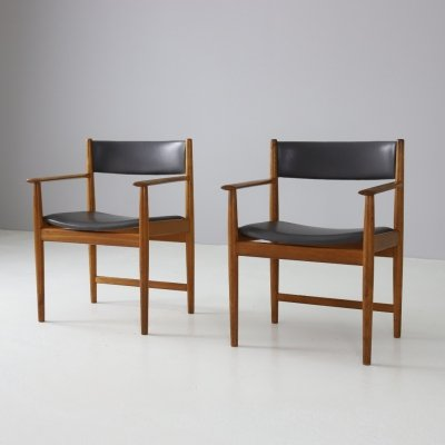 Pair of teak armchairs by Kurt Østervig for Sibast, 1960s