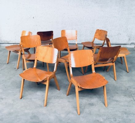 Midcentury Modern Design Stacking Chair set by Thonet, Germany 1960's