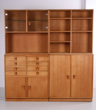 Kurt Østervig cabinet wall unit with 5 parts, 1970s