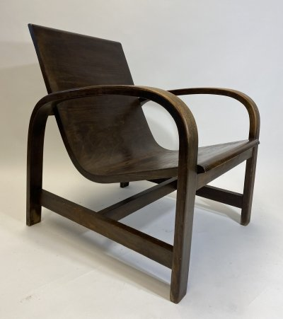 Functionalist armchair by Thonet Tatra A.G