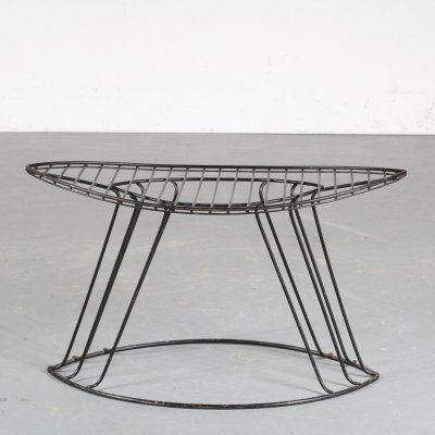 1950s Wire metal stool by Wijnberg, USA