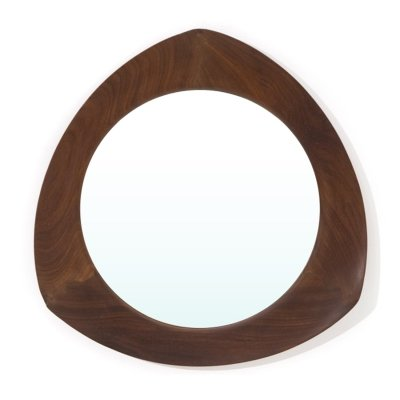 Mirror with teak frame by Campo & Graffi for Home, 1950s