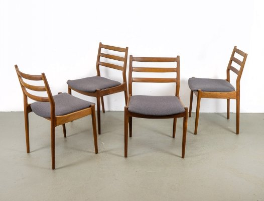 Set of 4 Teak Dining Chairs by Arne Vodder for Cado