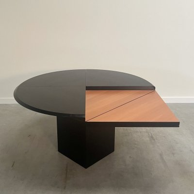 Large Round square Quadrondo dining table by Erwin Nagel for Rosenthal, 1980s