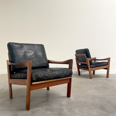 Danish lounge chairs by Illum Wikkelsø for Niels Eilersen, 1960s