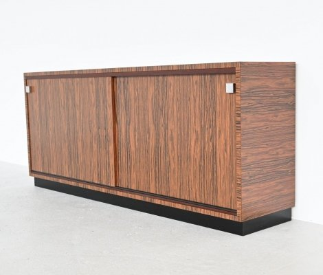 Custom made zebrano wood sideboard by Belform, 1960