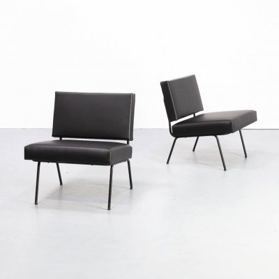 Pair of exclusive lounge chairs by Knoll International, 1960s