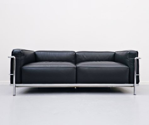 LC3 Le Grand Confort Sofa by Le Corbusier for Cassina, 1970s