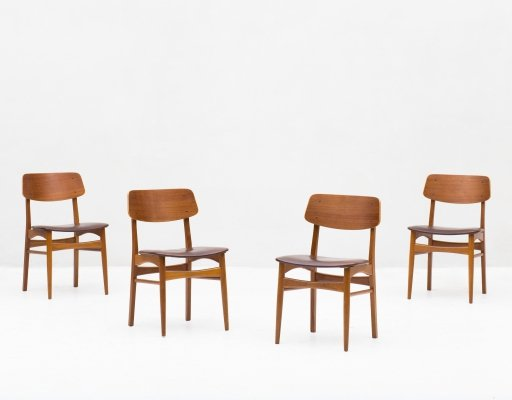 Set of 4 dining chairs by Sellgren, Denmark 1960's