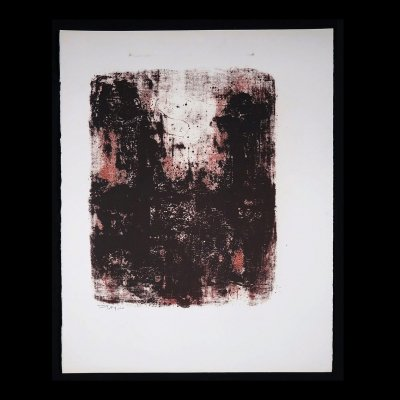 Abstract Expressionism Art Print Lithography by Wim Motz, 1960