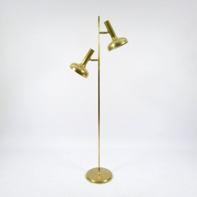 German brass floor lamp by Solken Leuchten, 1970s