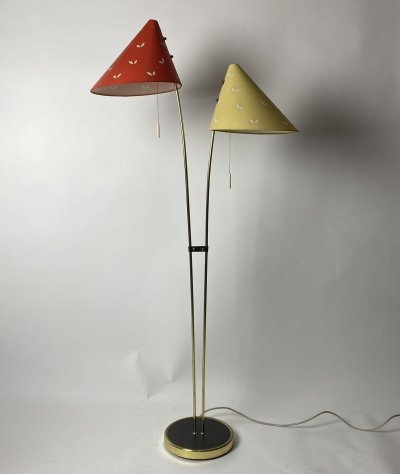 Vintage two headed floor lamp, 1960s