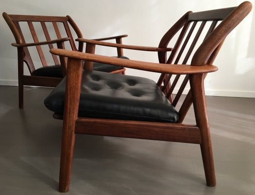 Pair of Dutch lounge chairs by De Ster, 1950s