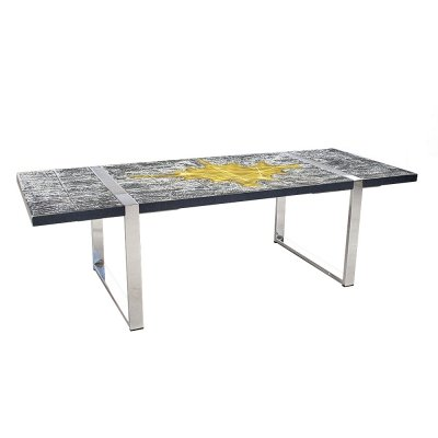 Large Ceramic Art Coffee Table by Jean d' Asti, Vallauris France