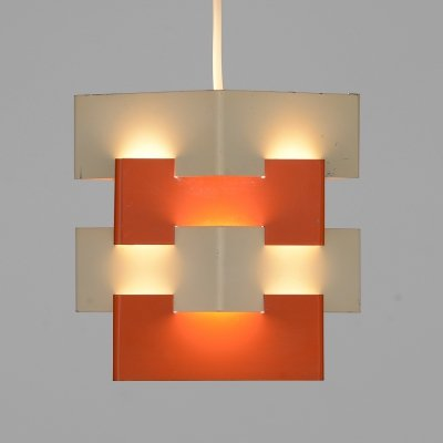 Metal pendant light 'Nift' by Kronobergsbelysning, Sweden 1960s