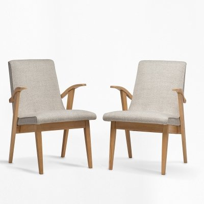 Pair of PUCHAŁY armchairs / women's version, 1960s
