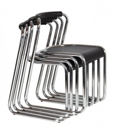 Airon stackable chairs, Italian design 1980s