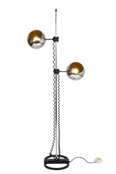 Chromed floor lamp from Staff Germany, 1970s