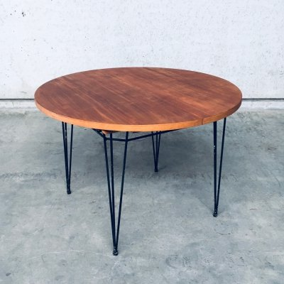 Midcentury Modern Design Extendable Dining Table, Belgium 1950's