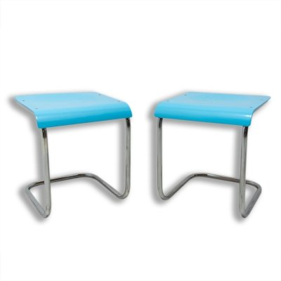 Pair of cantilever stools H-22 by Mart Stam for Slezák, 1930s