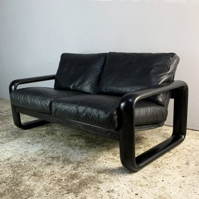 1970's mid century 'Hombre' leather sofa by Burkhard Vogtherr