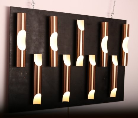 Set of 9 'Fuga' wall lamps by Raak, 1960's