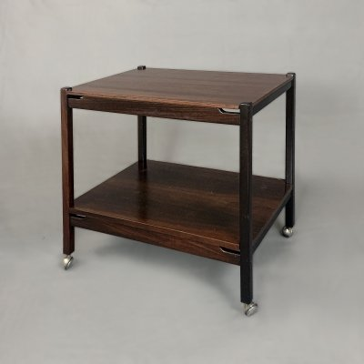 Rosewood Lunch Trolley by Poltronova, Italy 60s